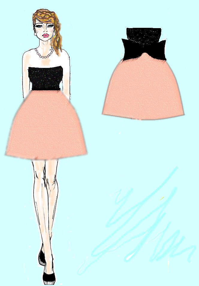 projekt sukienki studniowkowej
