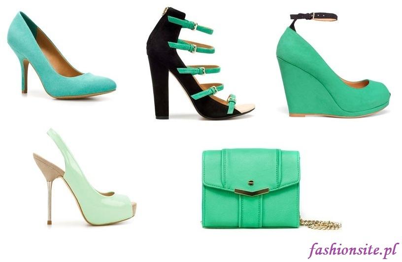 buty i torebki w kolorze pistacjowym