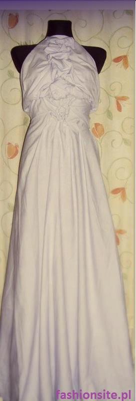 sukienka z prześcieradła
