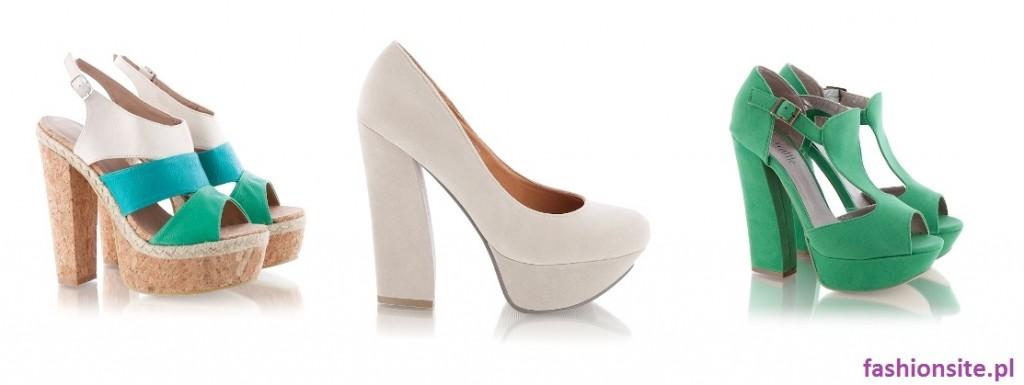 buty na grubym wysokim obcasie