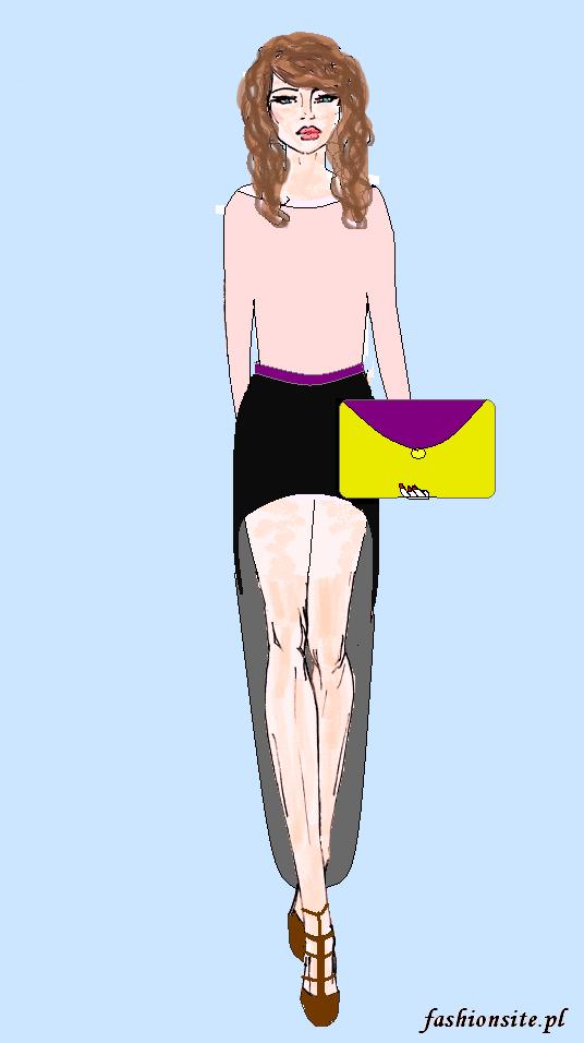 projekt asymetrycznej spódnicy