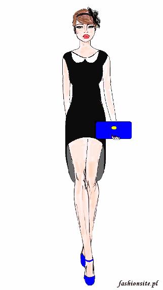 projekt sukienki asymetrycznej