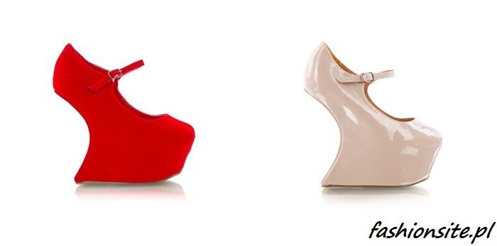 buty na koturnie krzywym