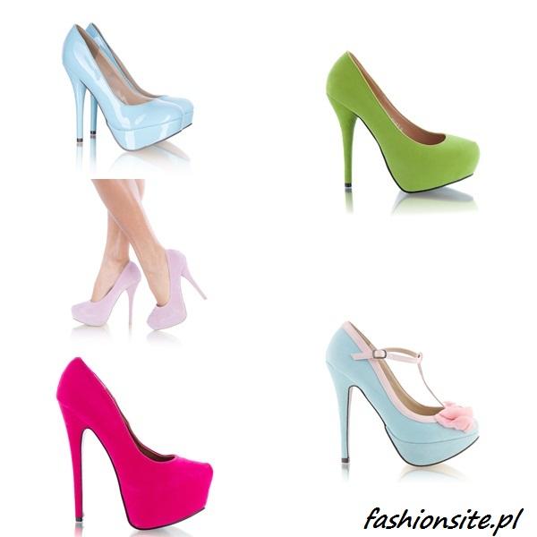 buty na platformie i szpilce