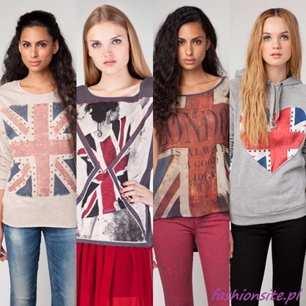 bluzka z flagą wielkiej brytanii
