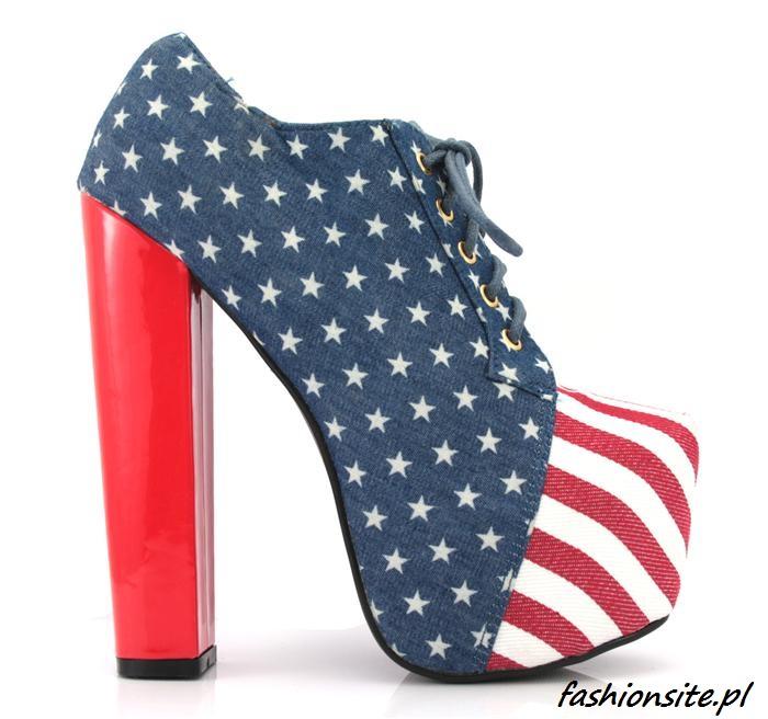 buty z flagą usa