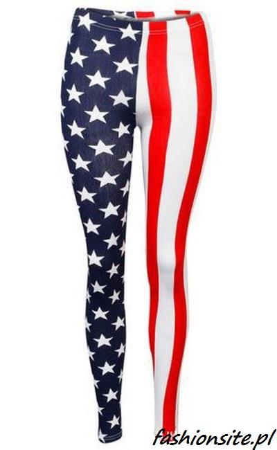 legginsy z flagą USA