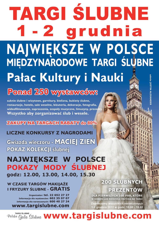 PLAKAT targi ślubne Warszawa 2012
