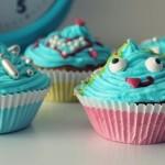 niebieska muffinka babeczka
