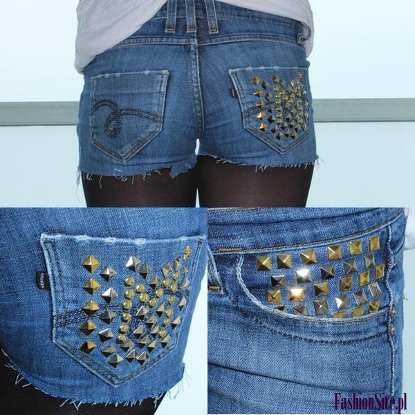 jeansowe spodenki z ćwiekami blog