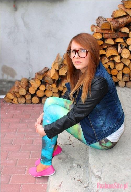 fashionsite.pl legginsy galaxy stylizacja