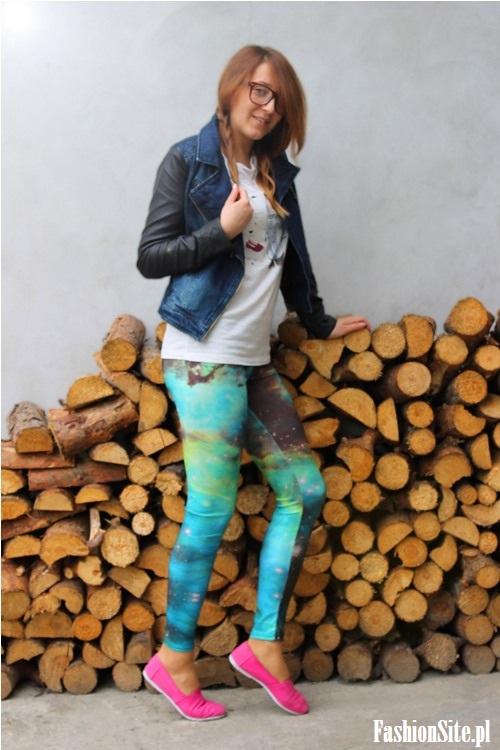 stylizacja kolorowe leginsy blog