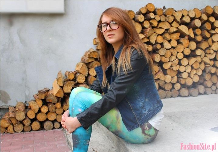 stylizacja z jeansowa kurtką