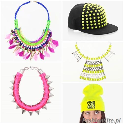neonowa czapka biżuteria