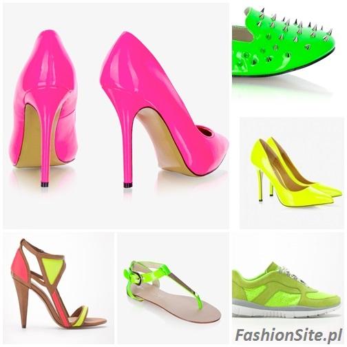 neonowe buty szpilki adidasy sandały