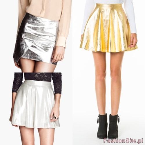 spodnica zlota i srebrna
