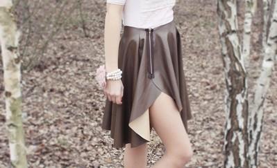 spodnica skora braz