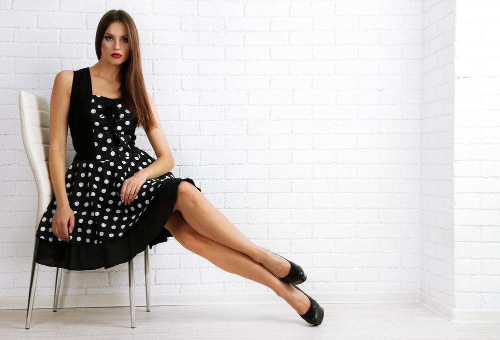 sukienka w kropki