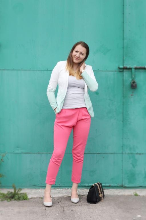 rozowe pink spodnie reserved blog