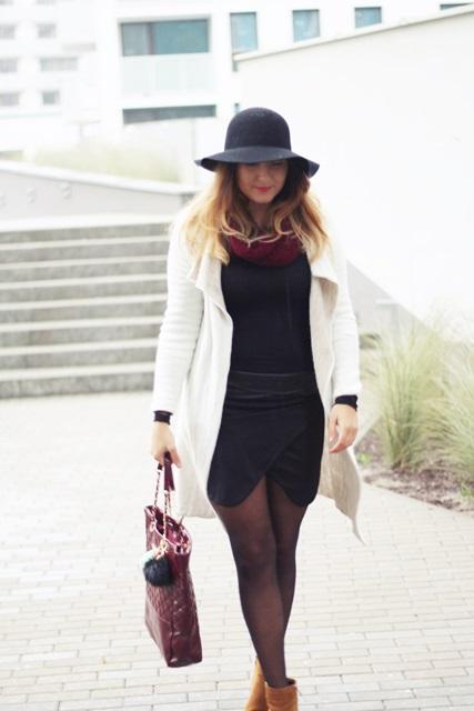 stylizacja look z kapeluszem jesien