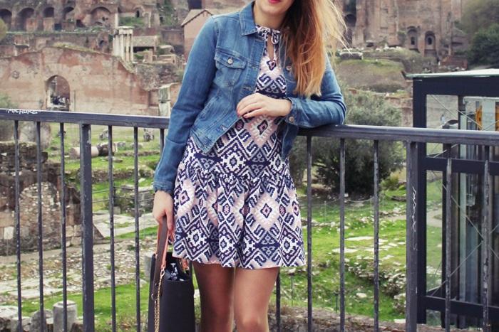 stylizacja wiosna sukienka