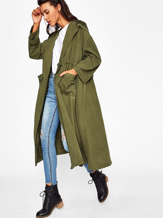 płaszcz długi oversize