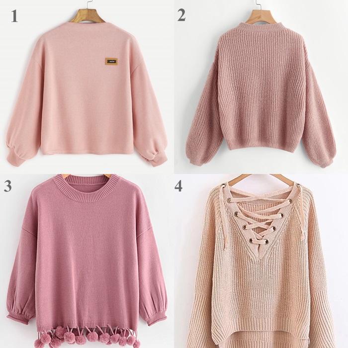 pudrowy rozowy sweter jesien trendy