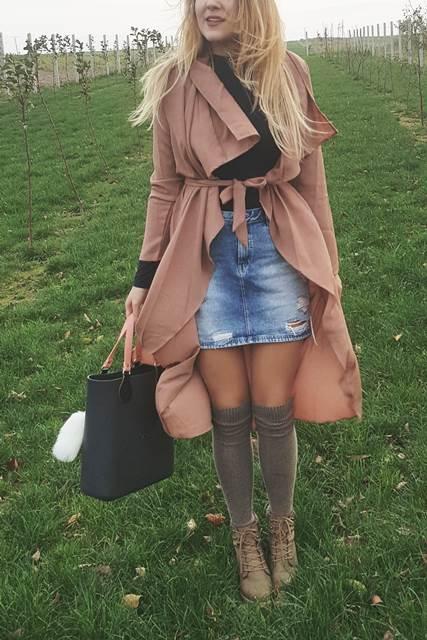 blog o modzie stylizacja dluga narzutka plaszcz